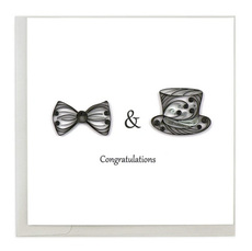 Two Grooms Quilling Card