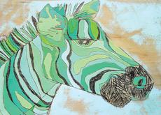 Teal Zebra