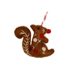 Squirrel Felted Ornament