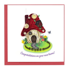 Toadstool House Quilling Card