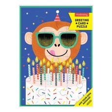 Monkey Around With Cake Puzzle Card