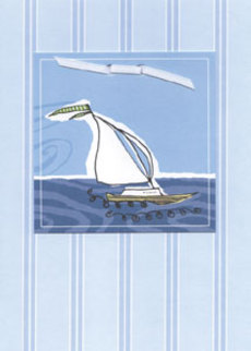 Sailboat Blue Stripes
