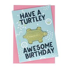 Turtley Awesome Bath Bomb Card