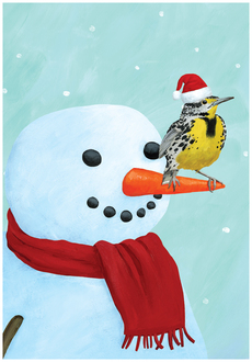 Meadowlark and Snowman