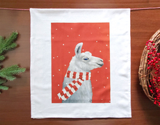 Holiday Llama Towel