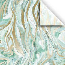 Mint Marble Tissue Paper