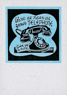 Telephone Matchcover