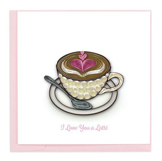 Love You A Latte Quilling Card