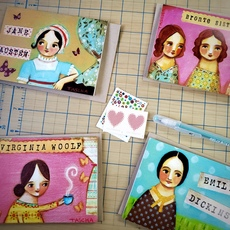 Great Literary Gals Card Set