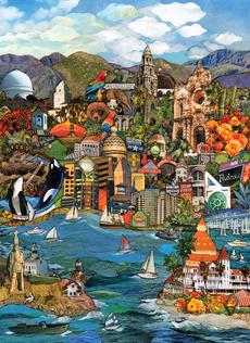 San Diego Cityscape Blank