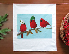 Three Cardinals Holiday Towel