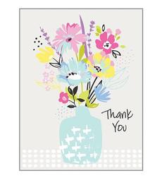 Light Blue Vase Thank You Notes Box
