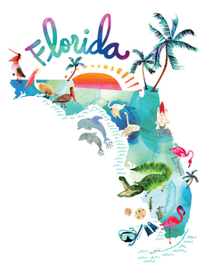 Watercolor USA: Florida