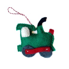 Train Felted Ornament
