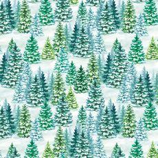 Snowy Tree Jumbo Gift Wrap