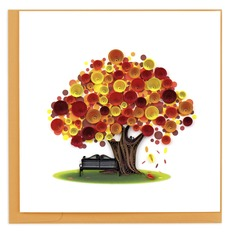 Autumn Tree Quilling Card
