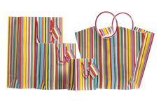 Multi-color Rainbow Stripe Large Shopper Bag
