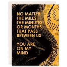 Miles, Minutes, Months Card
