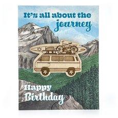 Journey Camper Birthday Magnet Card