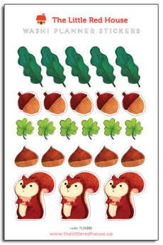 Squirrel Acorn Mini Stickers