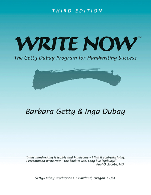 Allport Editions - Write Now: The Getty-Dubay Program for