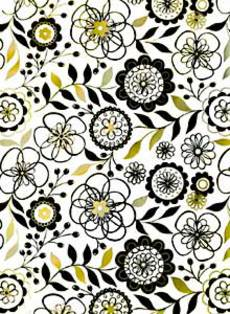 Black & White Flowers Wrap