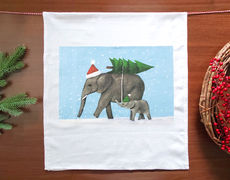 Holiday Elephants Towel