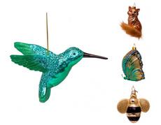 Hand Blown Glass Ornament - Woodland