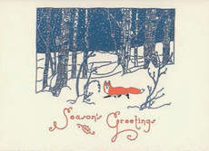 Snow Fox Christmas Box