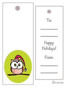 Owl Gift Tag