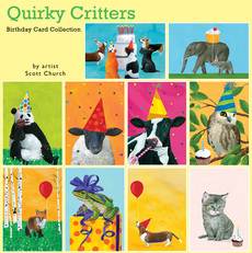 Quirky Critters Humorous Birthday Card Collection
