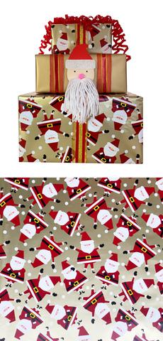 Golden Santa Jumbo Wrap & Bundle