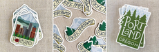 Portland Trees & Mountain Stickers