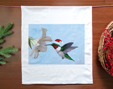 Holiday Hummingbird Towel