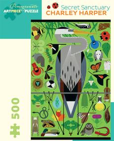 Charley Harper Secret Sanctuary Puzzle - 500pc