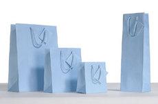 Blue Kraft Solid Bags