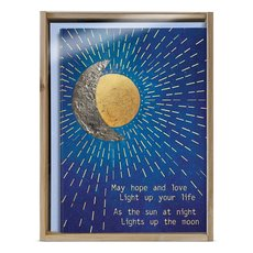 Golden Sun & Moon Boxed Holiday Notecards