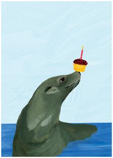 Seal Cupcake