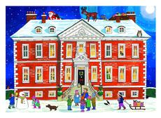 Country House Advent Calendar Card