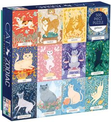 Cat Zodiac Puzzle - 500pc