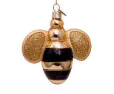 Bumblebee Hand Blown Glass Ornament