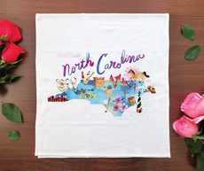 Watercolor USA: North Carolina Towel