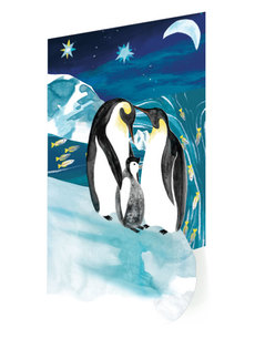 Penguin Family Lasercut Boxed Cards