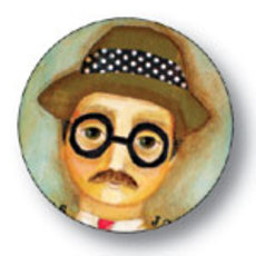 James Joyce Button