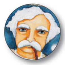 Mark Twain Button