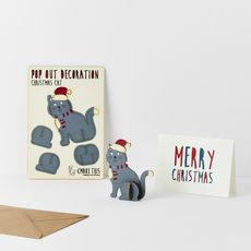 Christmas Cat Pop Out Card