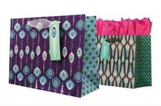 Peacock Gift Bag Set of Two