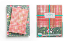 Winter Floral With Plaid Reversible Eco-Wrap