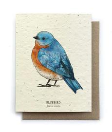 Bluebird Plantable Seed Card