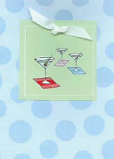 Martini Blue Dots